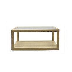 Debenhams - Oak effect 'Cleves' rectangular glass coffee table