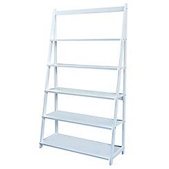 Debenhams - White 'Fenton' wide shelving unit