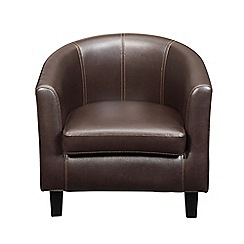 Debenhams - Brown 'Kubic' armchair