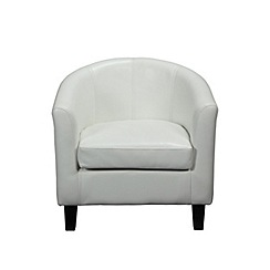 Debenhams - Cream 'Kubic' armchair