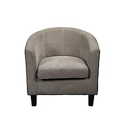 Debenhams - Grey fabric 'Kubic' armchair