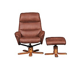 Debenhams - 'Minori' recliner chair and stool