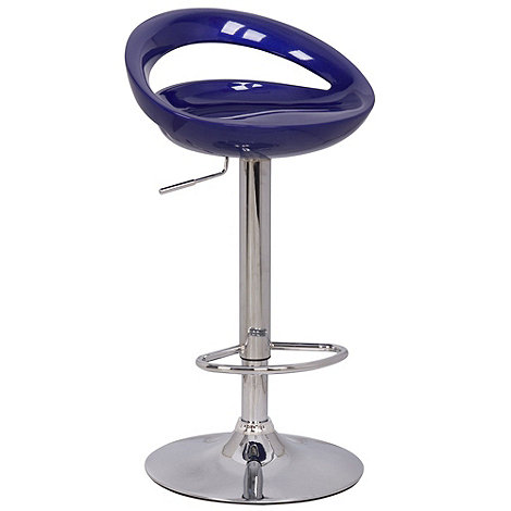 Debenhams - Blue +Luna+ gas lift bar stool