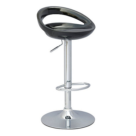Debenhams - Black +Luna+ gas lift bar stool