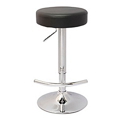 Debenhams - Black 'Gamma' gas lift bar stool