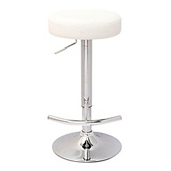 Debenhams - White 'Gamma' gas lift bar stool