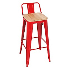 Debenhams - Red metal 'Chicago' bar stool