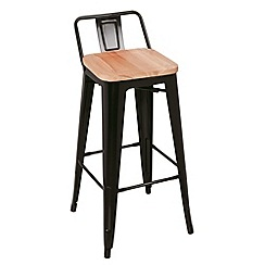 Debenhams - Black metal 'Chicago' bar stool