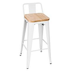 Debenhams - White metal 'Chicago' bar stool