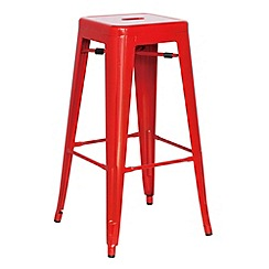 Debenhams - Red metal 'Detroit' bar stool