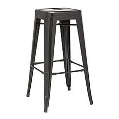 Debenhams - Black metal 'Detroit' bar stool