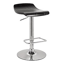Debenhams - Black wood 'Ronnie' gas lift bar stool