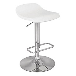 Debenhams - White wood 'Ronnie' gas lift bar stool