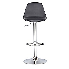 Debenhams - Black 'Retro' gas lift bar stool