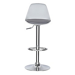 Debenhams - Grey 'Retro' gas lift bar stool