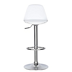 Debenhams - White 'Retro' gas lift bar stool