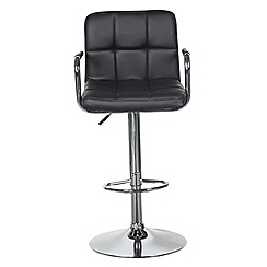 Debenhams - Black 'Grid' gas lift bar stool