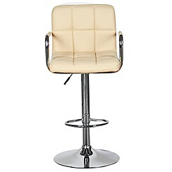 Debenhams - Cream 'Grid' gas lift bar stool