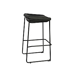 Debenhams - Black metal 'Acton' bar stool