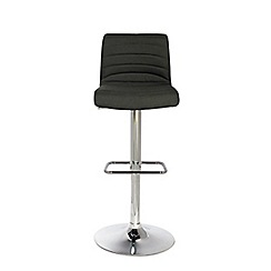 Debenhams - Grey 'Stamford' gas lift bar stool