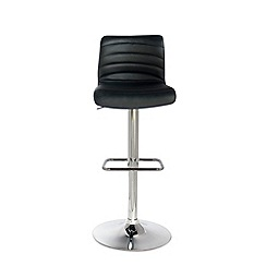 Debenhams - Black 'Stamford' gas lift bar stool