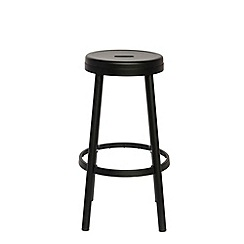 Debenhams - Black metal 'Hackney' bar stool