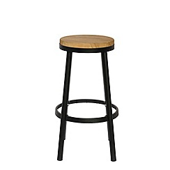 Debenhams - Black metal 'Islington' bar stool