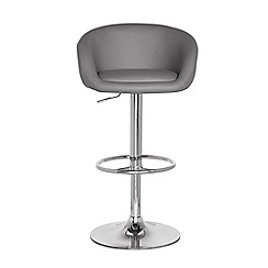 Debenhams - Grey 'Plaza' gas lift bar stool