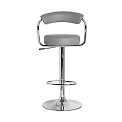Debenhams - Grey 'Meteor' gas lift bar stool