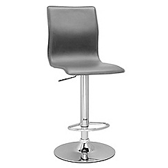 Debenhams - Grey 'Midnight' gas lift bar stool