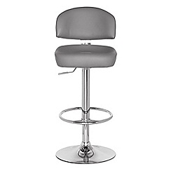 Debenhams - Grey 'Brooklyn' gas lift bar stool