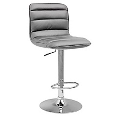 Debenhams - Grey 'Philadelphia' gas lift bar stool