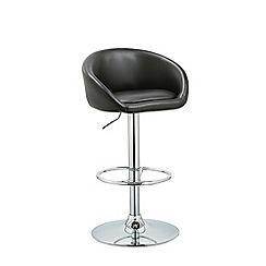 Debenhams - Black 'Pittsburgh' gas lift bar stool