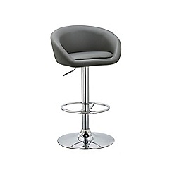 Debenhams - Grey 'Pittsburgh' gas lift bar stool
