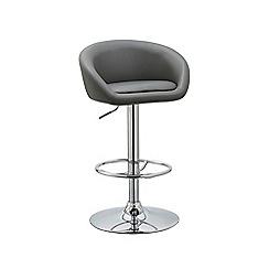 Debenhams - Grey 'Pittsburgh' gas lift bar stool