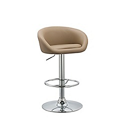 Debenhams - Beige 'Pittsburgh' gas lift bar stool