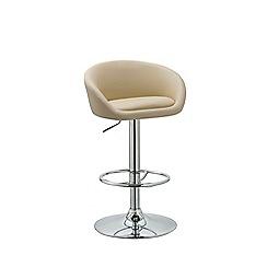 Debenhams - Cream 'Pittsburgh' gas lift bar stool