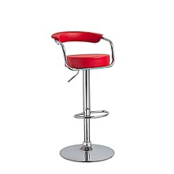 Debenhams - Red 'Miami' gas lift bar stool