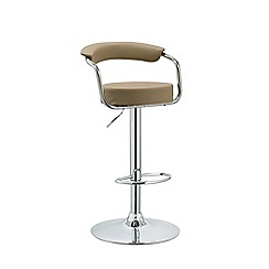 Debenhams - Beige 'Miami' gas lift bar stool