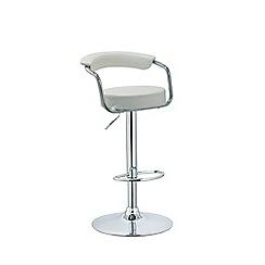 Debenhams - White 'Miami' gas lift bar stool