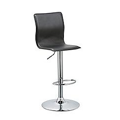 Debenhams - Black 'Madison' gas lift bar stool