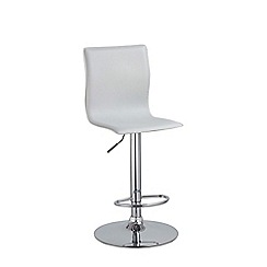 Debenhams - White 'Madison' gas lift bar stool