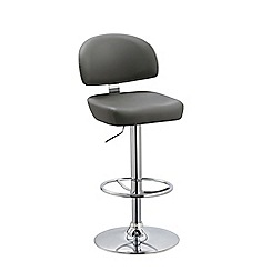 Debenhams - Grey 'Baltimore' gas lift bar stool