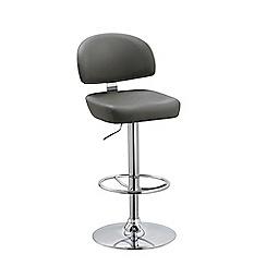 Debenhams - Grey 'Baltimore' gas lift bar stool