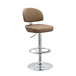 Debenhams - Beige 'Baltimore' gas lift bar stool