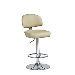 Debenhams - Cream 'Baltimore' gas lift bar stool