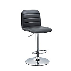 Debenhams - Black 'Portland' gas lift bar stool