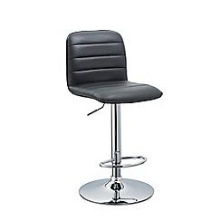 Debenhams - Black 'Portland' gas lift bar stool