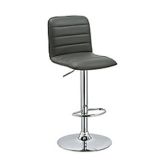 Debenhams - Grey 'Portland' gas lift bar stool