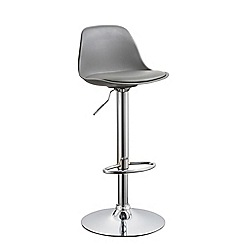 Debenhams - Grey 'Reno' gas lift bar stool